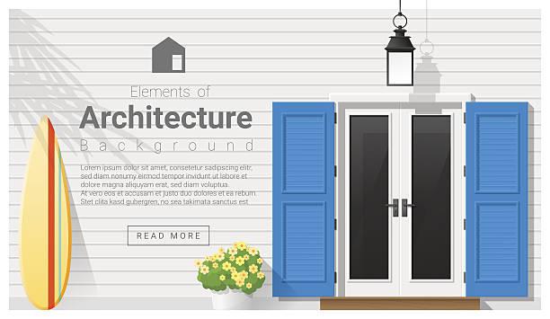 Elements of architecture , front door background 13 Elements of architecture , front door background , vector ,illustration front door stock illustrations
