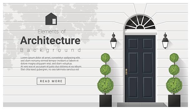 Elements of architecture , front door background 15 Elements of architecture , front door background , vector ,illustration front door stock illustrations