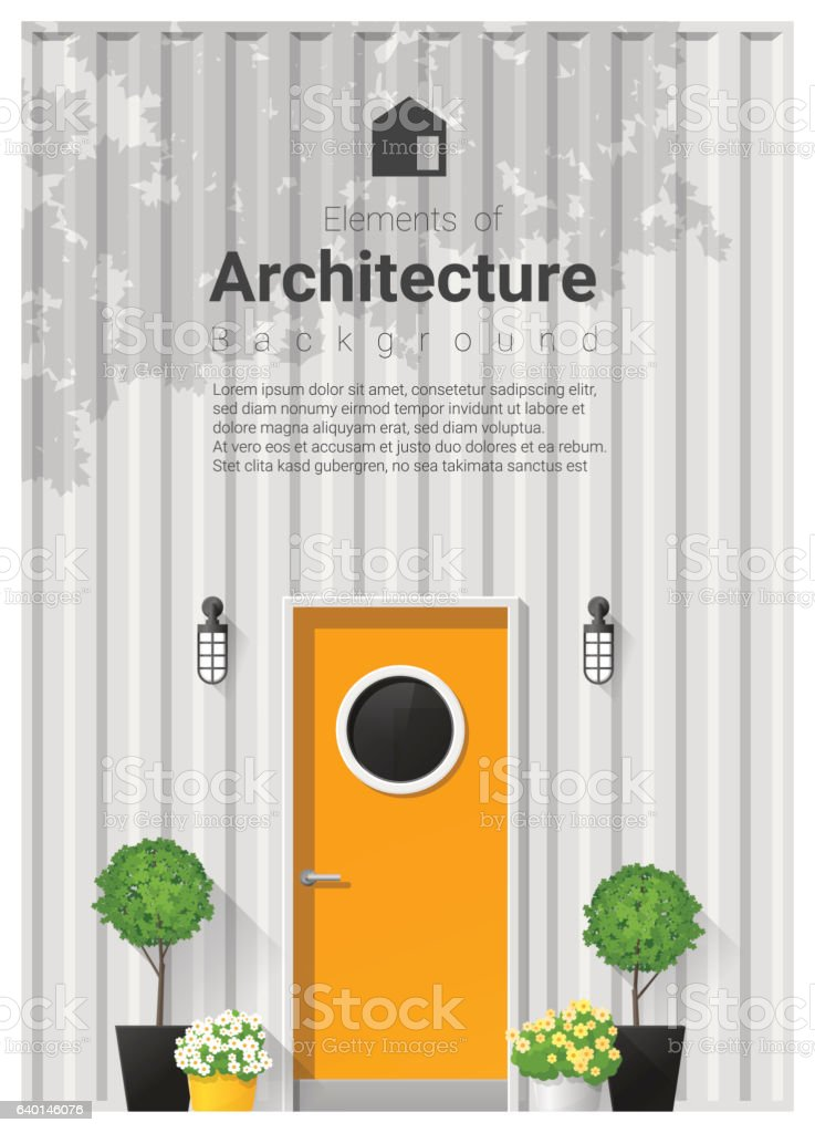Elements of architecture , front door background 18 vector art illustration