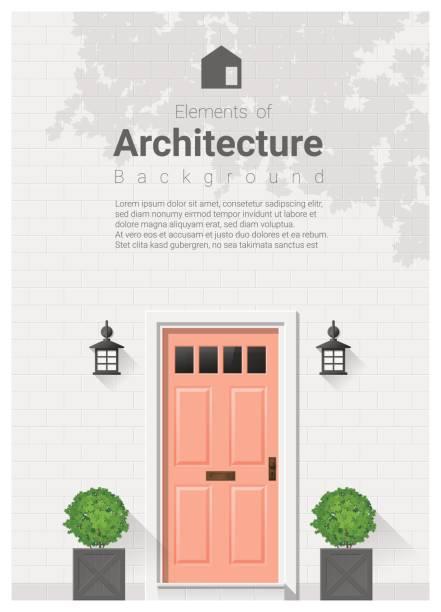 Elements of architecture , front door background 20 Elements of architecture , front door background , vector ,illustration front door stock illustrations