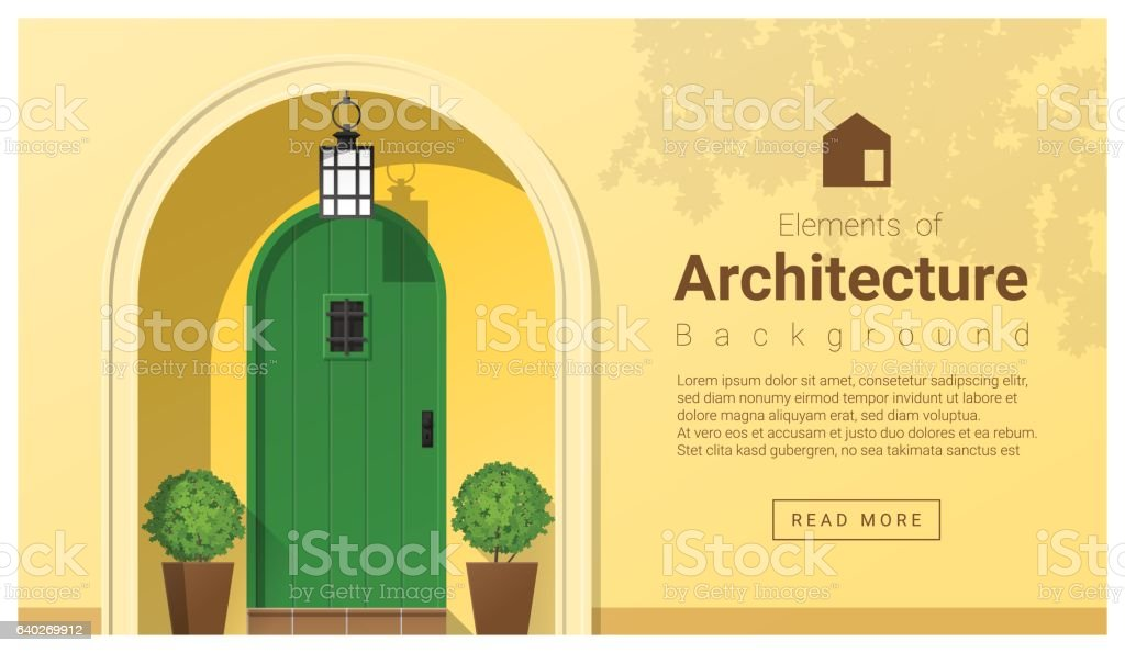 Elements of architecture , front door background 21 vector art illustration