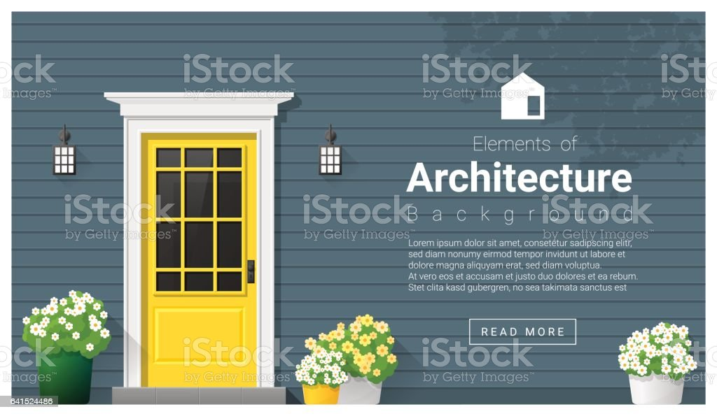 Elements of architecture , front door background , vector ,illustration vector art illustration