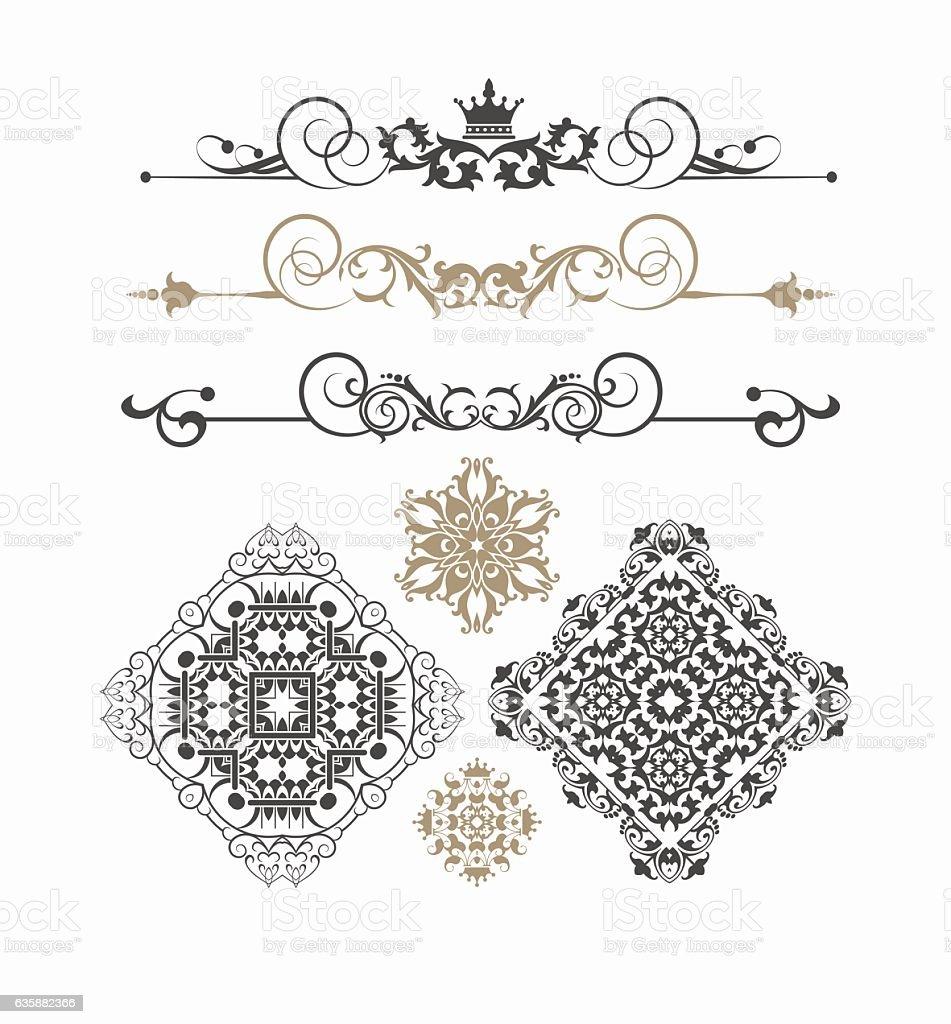 Elements of Design vintage Style Vector Image vector art illustration
