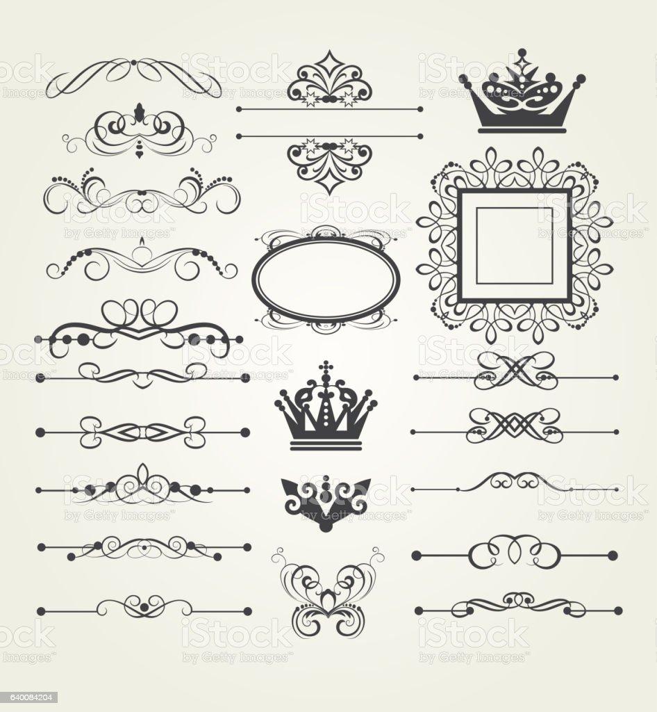 Elements of design, vintage, vector illustration vector art illustration