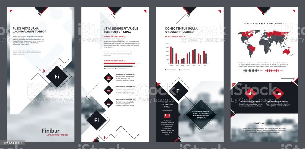 Elements of infographics for flyer template and banner templates. vector art illustration