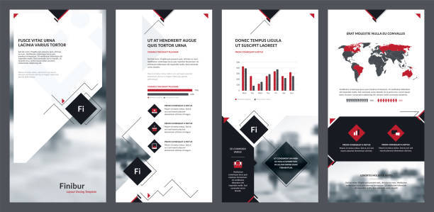 elements of infographics for flyer template and banner templates. - email templates stock illustrations