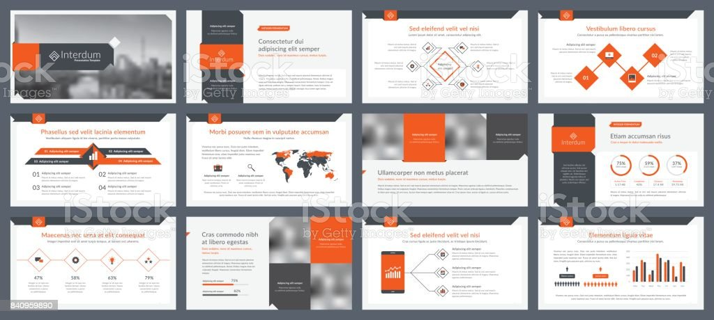 Elements of infographics for presentations templates vector art illustration