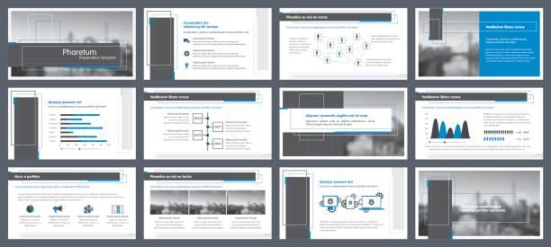 elemente der infografiken für präsentationen vorlagen - freiflächen stock-grafiken, -clipart, -cartoons und -symbole