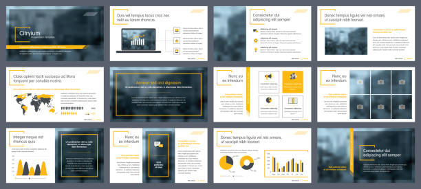 elements of infographics for presentations templates - brochure templates stock illustrations, clip art, cartoons, & icons