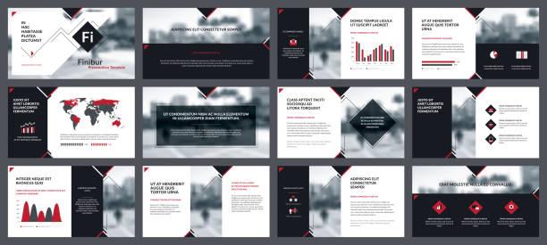 elemente der infografiken für präsentationen vorlagen - zeitschrift grafiken stock-grafiken, -clipart, -cartoons und -symbole