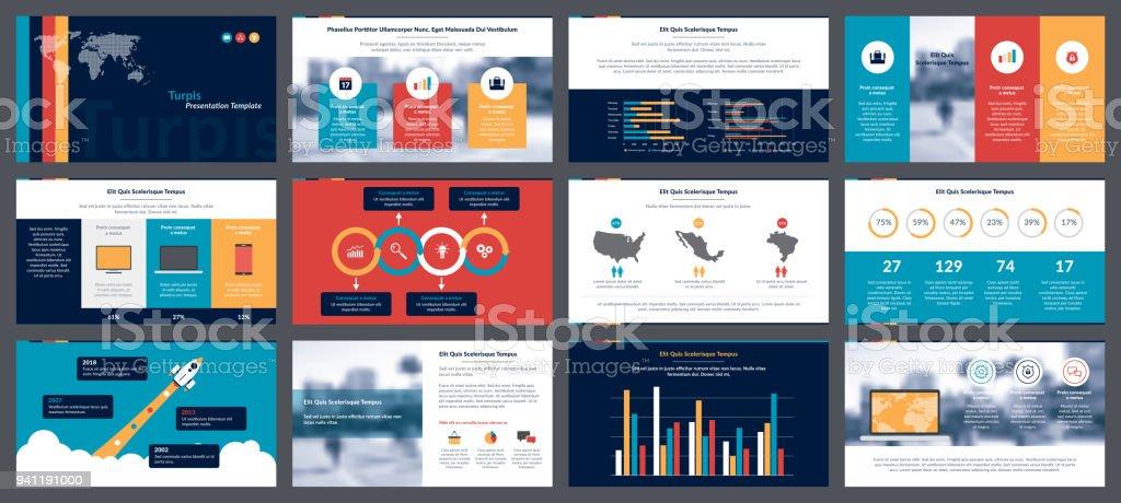 Elementos de infográficos para modelos de apresentações - ilustração de arte em vetor
