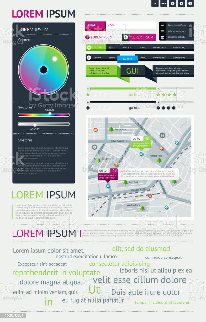 Elements of Infographics with buttons and menus royalty-free elements of infographics with buttons and menus stock vector art & more images of abstract