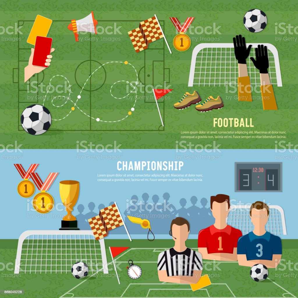 Elements of professional soccer flat design soccer banner football elements of professional soccer flat design soccer banner football team signs and symbols biocorpaavc Choice Image