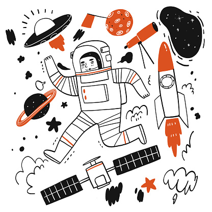 Elements of stories about space or astronaut