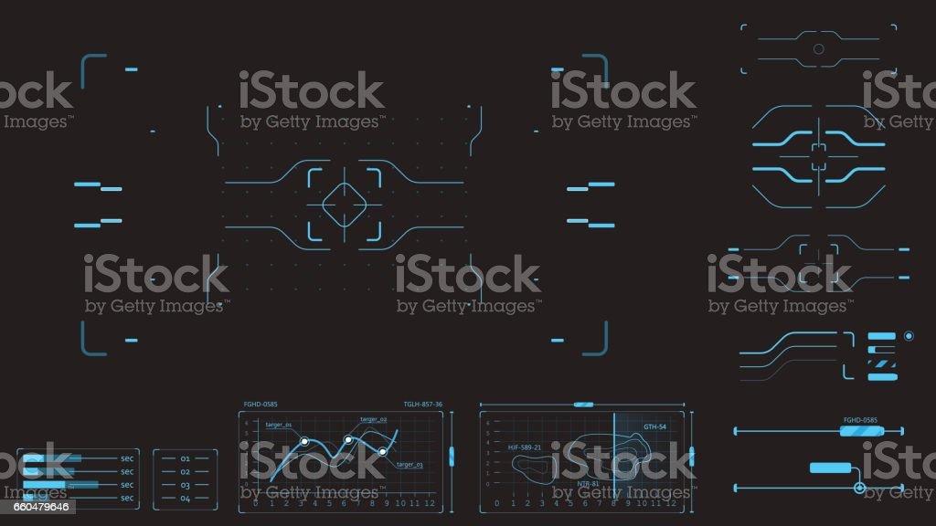 Elements user interface vector art illustration