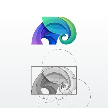 Elephant Abstract Vector Logo Template