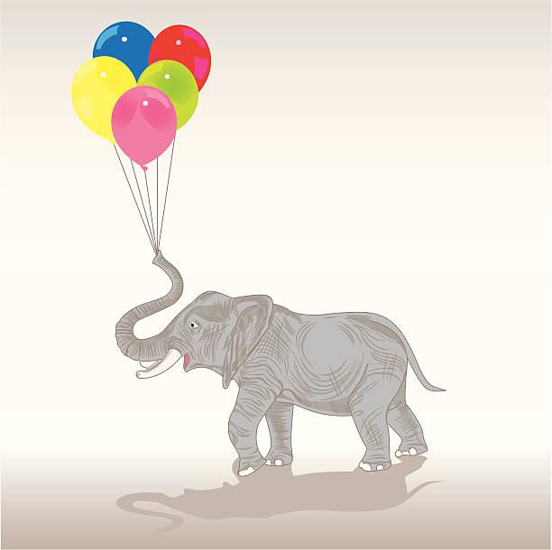 Elephant Balloon Illustrations, Royalty-Free Vector ...