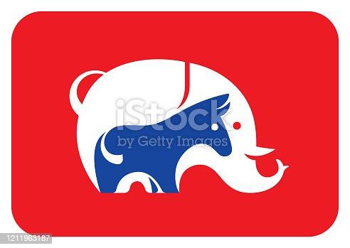 istock elephant and donkey symbol 1211963187