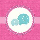 Elephant baby greeting card