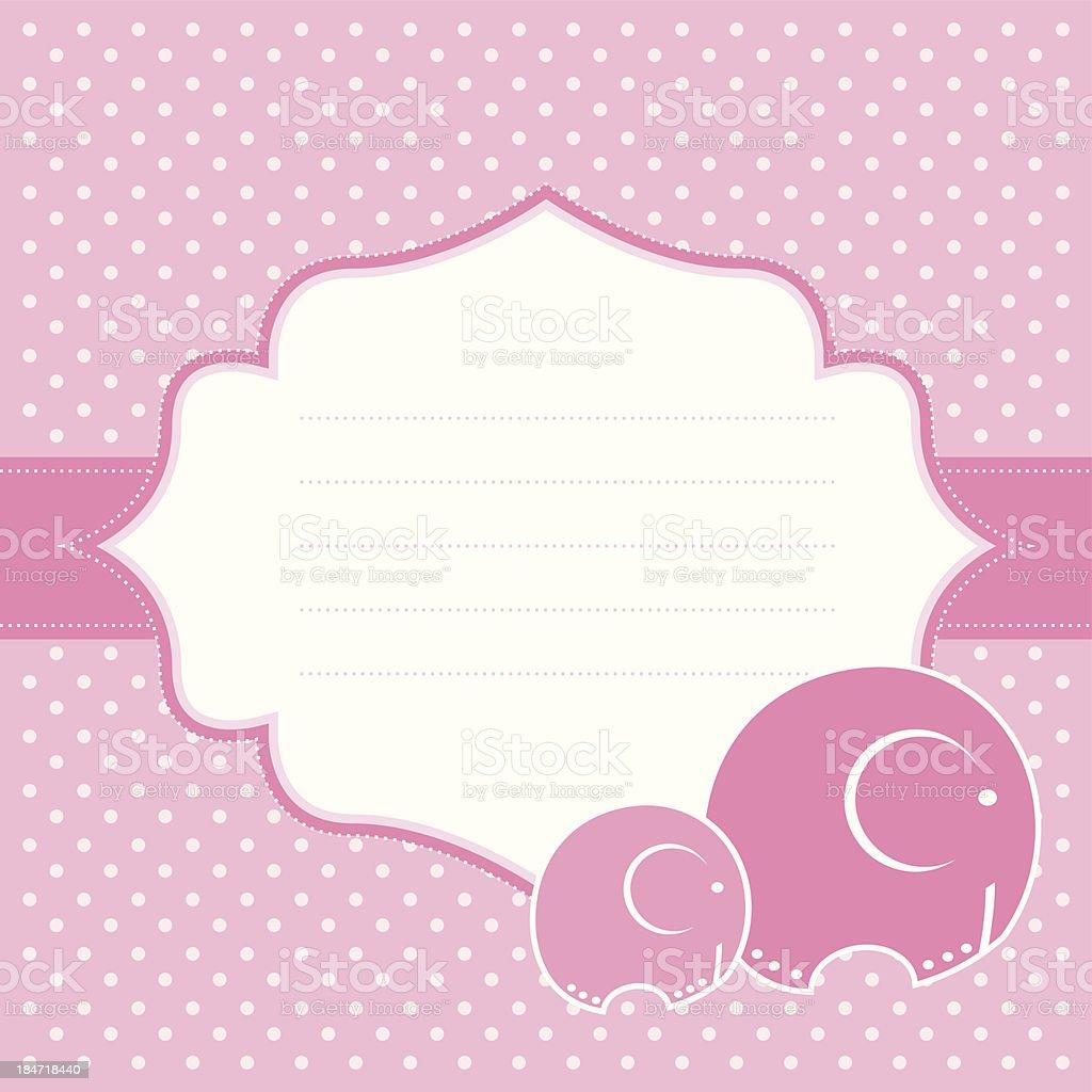 Elephant baby greeting card royalty-free stock vector art