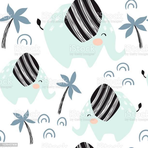 Elephant baby seamless pattern scandinavian cute print vector id1026402906?b=1&k=6&m=1026402906&s=612x612&h=qg8teqsvd7mnqoj2x5hjxw6p zwe4yxfsorhspve1ao=
