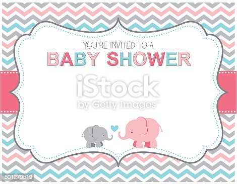 istock Elephant Baby Shower Invitation 501279519