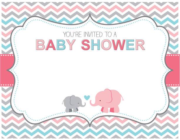 ilustraciones, imágenes clip art, dibujos animados e iconos de stock de elefantes bebé ducha de invitación - baby shower