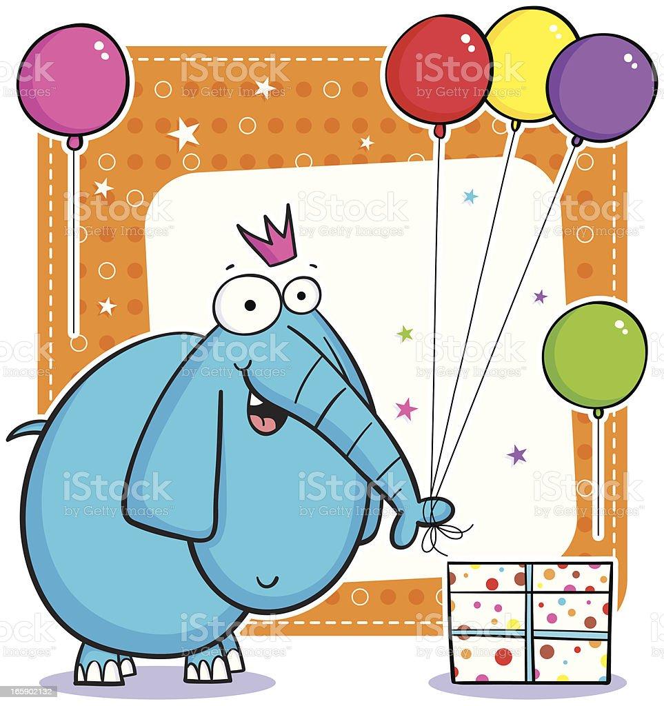 Elephant Balloons royalty-free stock vector art