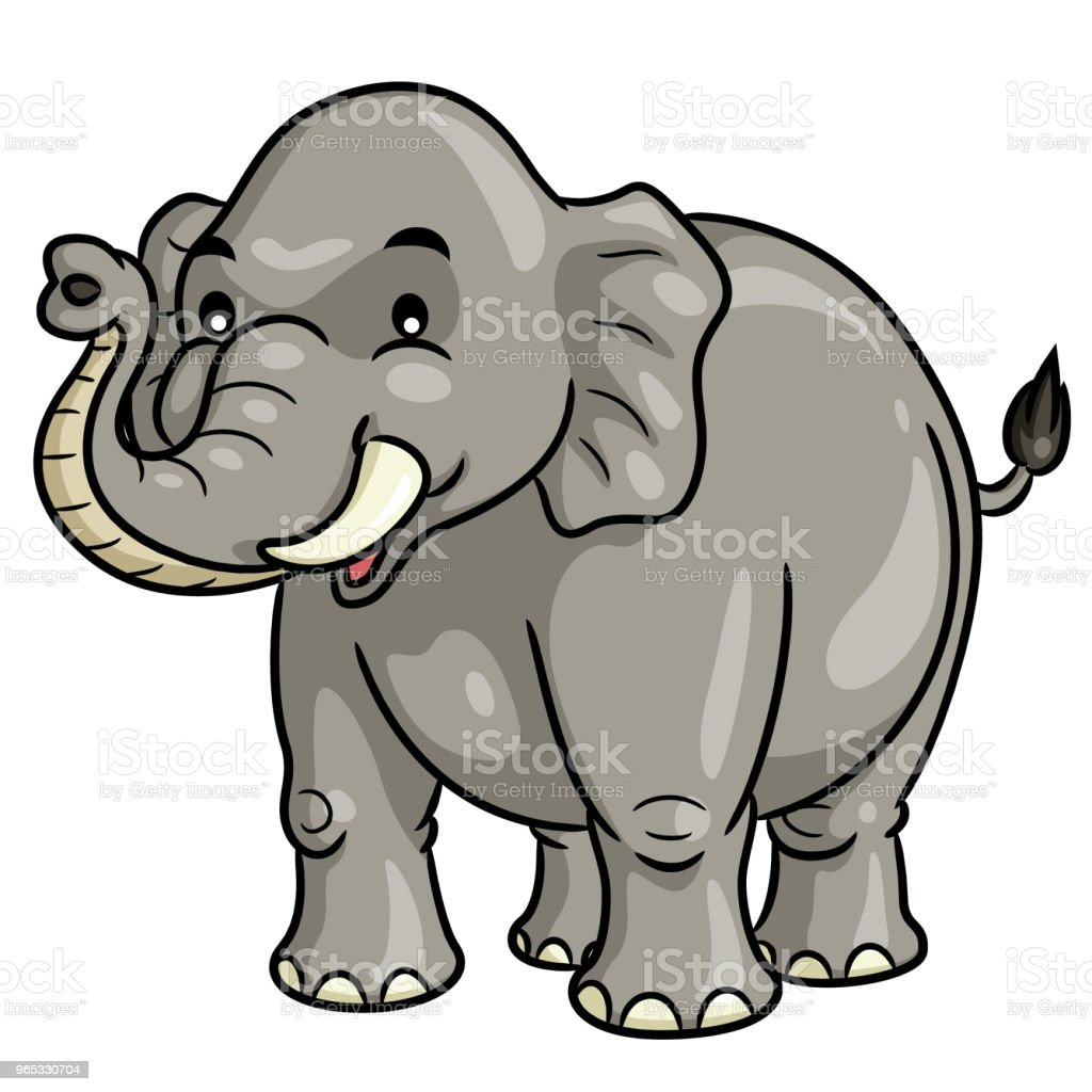 Elephant Cartoon Cute royalty-free elephant cartoon cute stock illustration - download image now