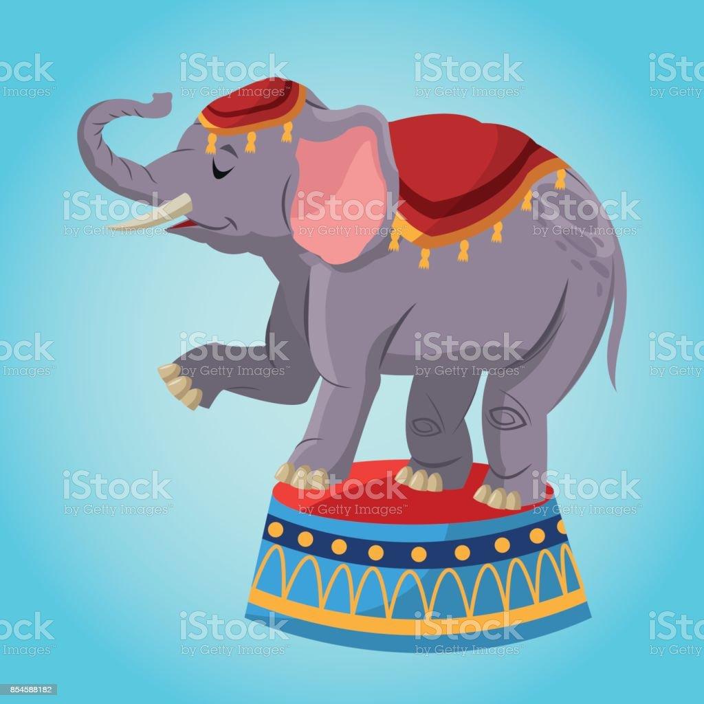 Ilustración de Dibujos Animados De Elefante De Circo y más banco de ...