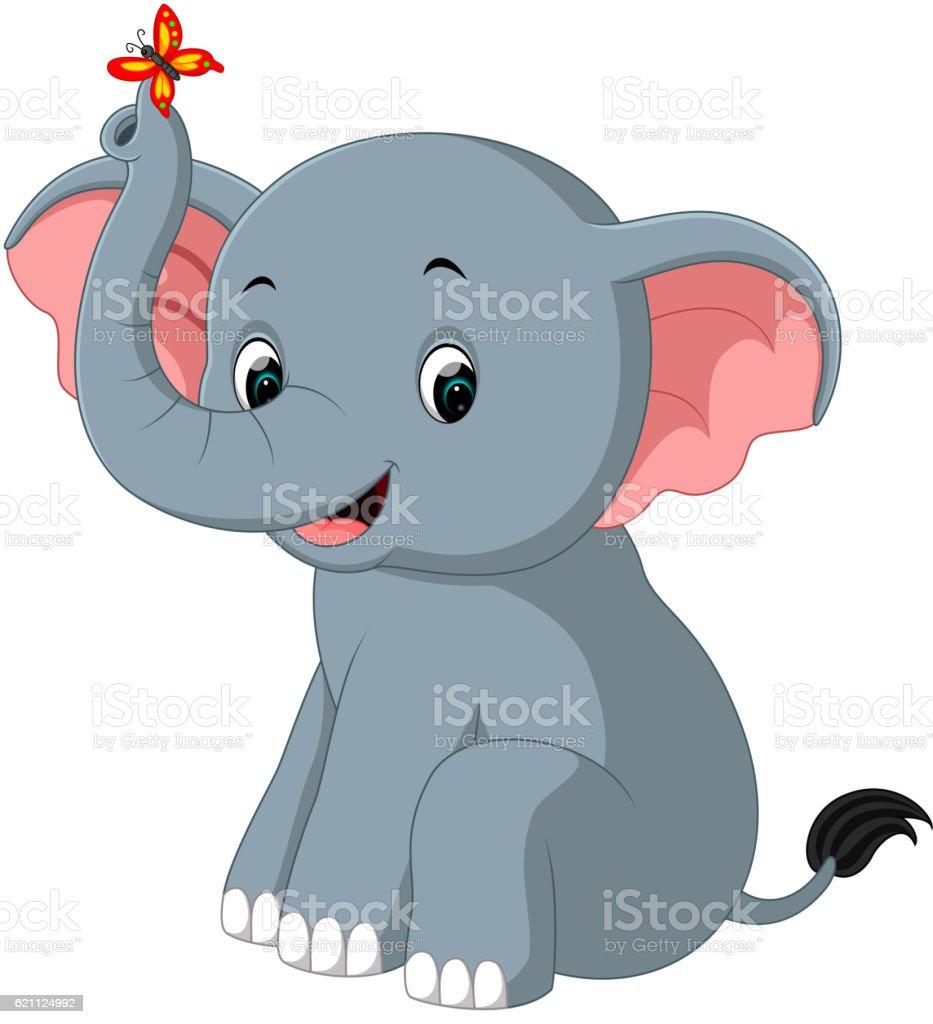 elephant cartoon stock vector art 621124992 istock