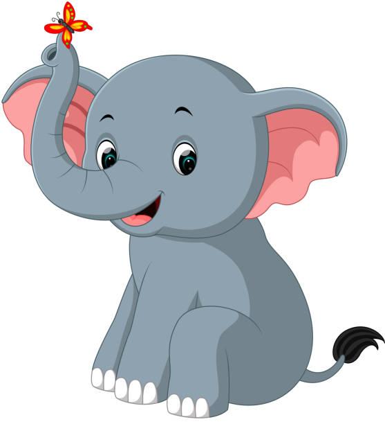 Best Elephant Sitting Illustrations, Royalty-Free Vector ...