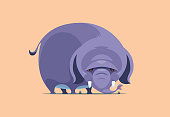 vector illustration of elephant character