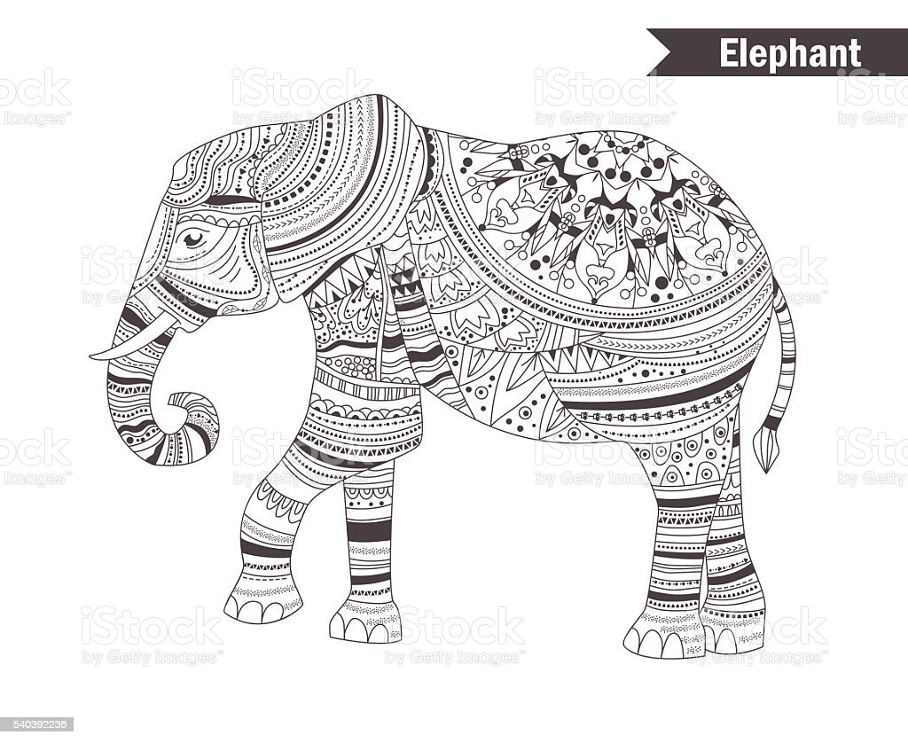 Cute Abstract Elephant Coloring Pages for Adults #6849 Abstract ... | 838x1024