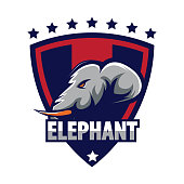Elephant design template for sport icon