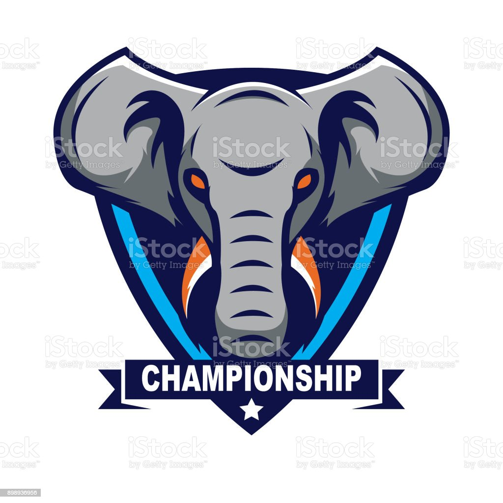 Elefantendesignvorlage Vektor Illustration 898936956 Istock
