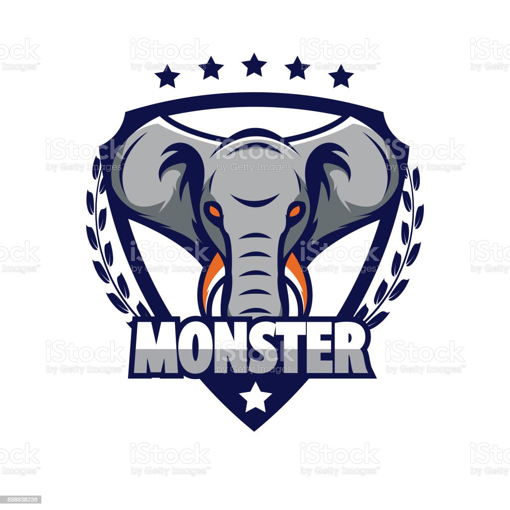 Elefantendesignvorlage Vektor Illustration 898938236 Istock