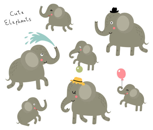 Best Elephant Family Illustrations, Royalty-Free Vector ...
