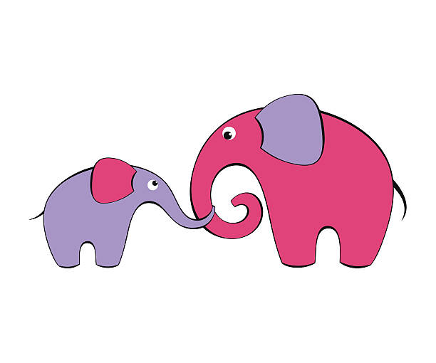 Royalty Free Elephant Family Clip Art, Vector Images ...