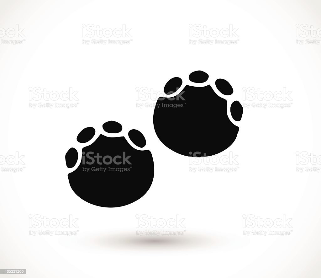 Elephant Footprint Paw Print Vector Stock Vector Art