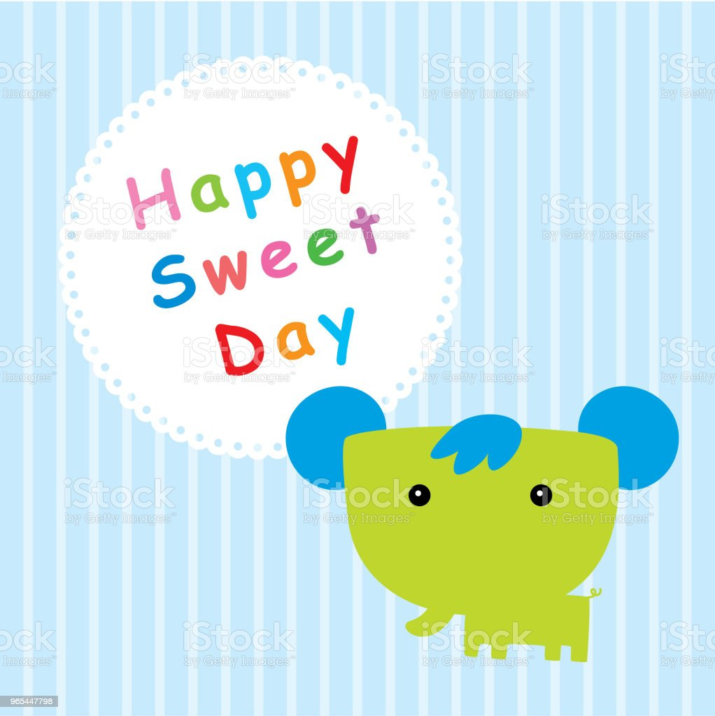 elephant happy sweet day elephant happy sweet day - stockowe grafiki wektorowe i więcej obrazów baby shower royalty-free