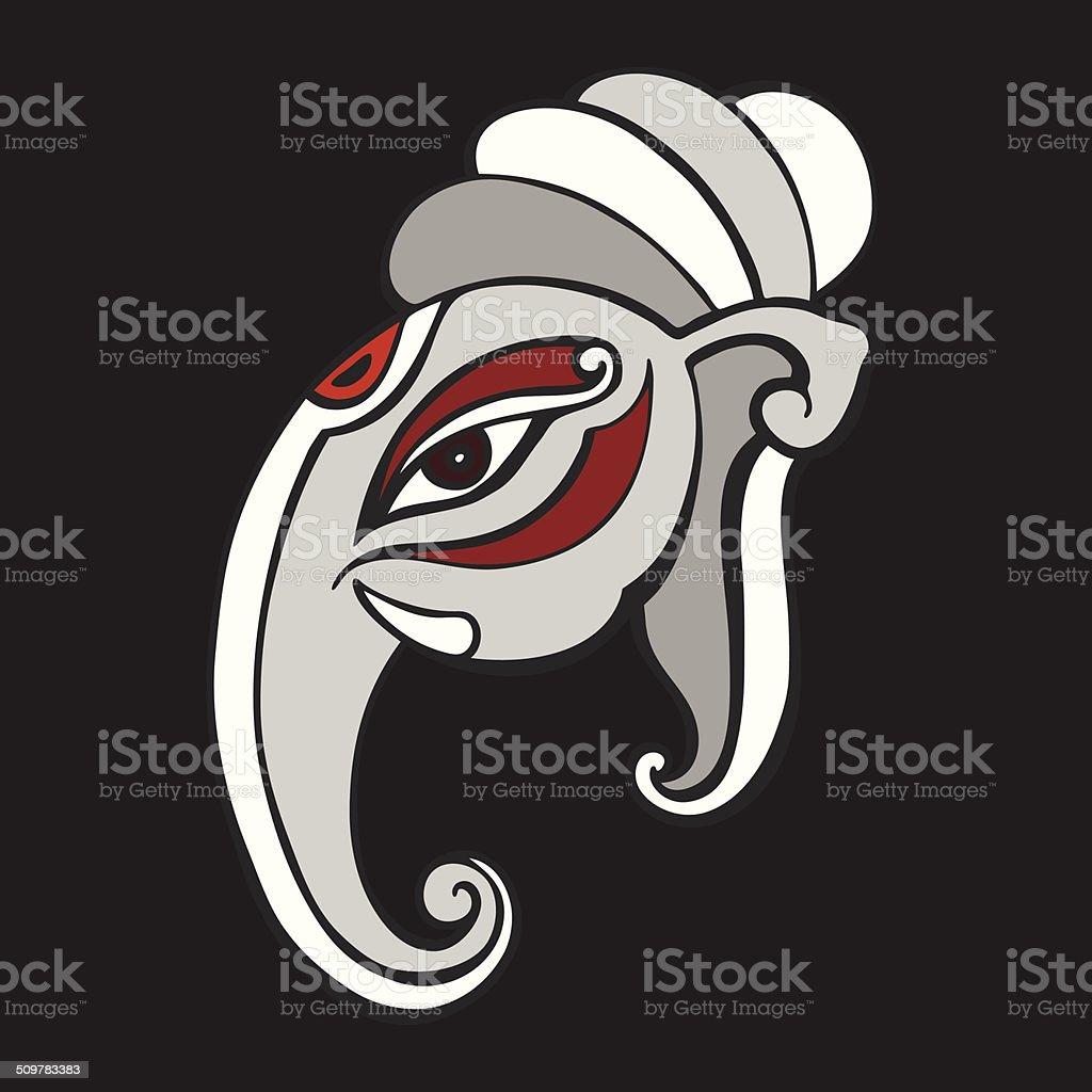 b512863376526 Elefante cabeza. Ganesha ilustración a mano. ilustración de elefante cabeza  ganesha ilustración a mano