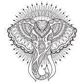 Elephant head mandala