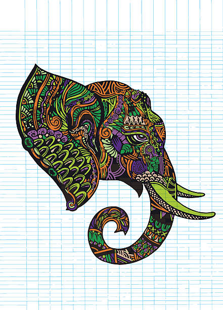 Best Drawing Of The Side View Elephant Illustrations ...