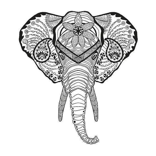 Elephant Head Vector Art Graphics Freevector Com