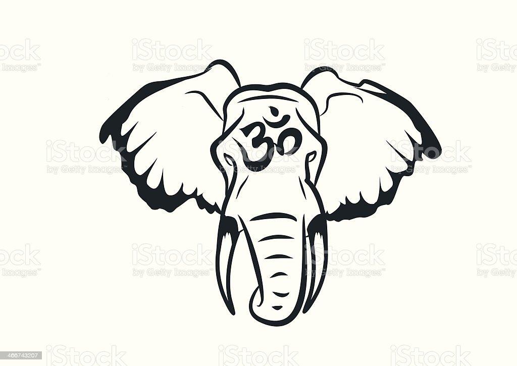 elephant head stock vector art 466743207 | istock