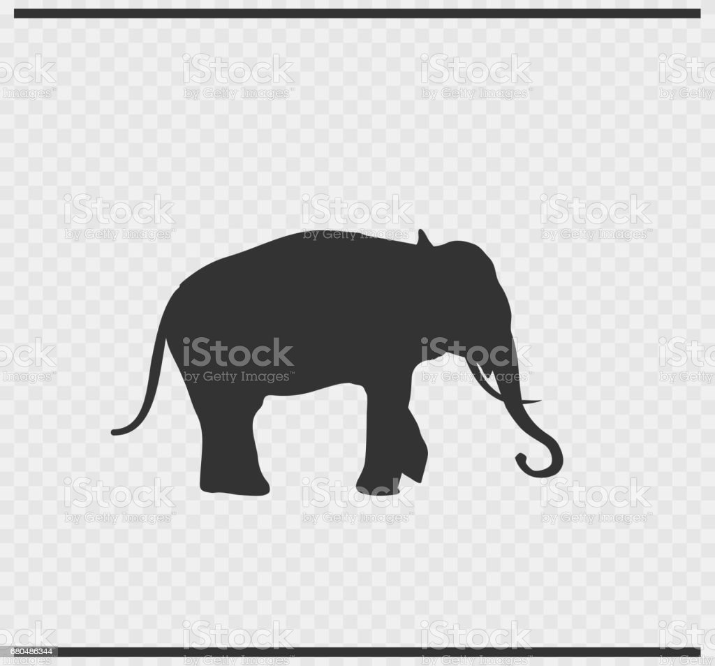 Elephant Icon Black Color On Transparent Background Stock Vector Art ...