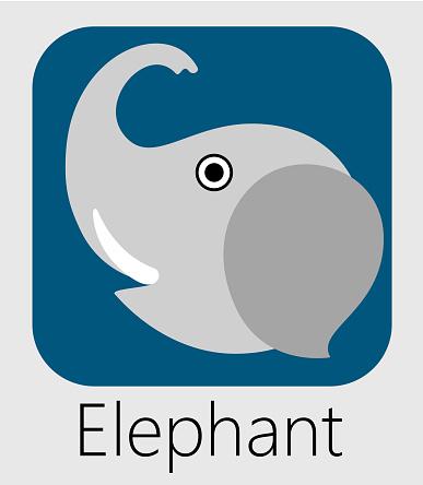 Elephant icon design