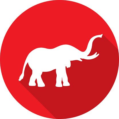 Elephant Icon Silhouette 1
