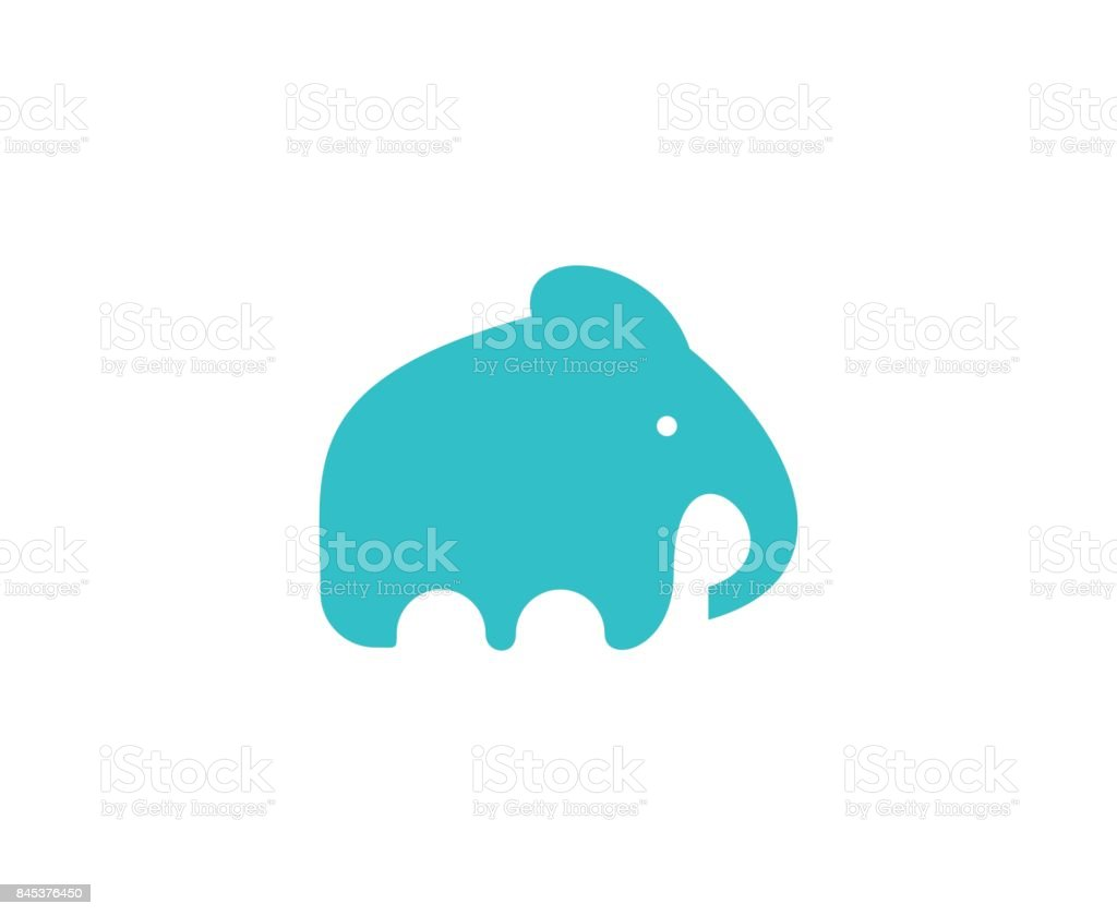 Elephant icon vector art illustration